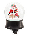 Santa Stocking Holder Water Globe
