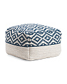 Made In India Diamond Woven Pouf