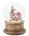 Musical Skiing Santa Snow Globe