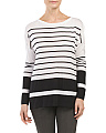 Striped Boxy Boat Neck Sweater