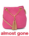 Straw Crossbody With Tassels