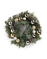 Pine Cone Bauble Wreath