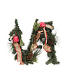 6ft Pinecone And Burlap Bow Garland