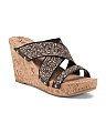 Studded Stretch Wedge Sandal