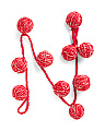 6ft Yarn Ball Holiday Garland