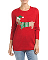 Metallic Holiday Dog Sweater