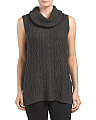 Sleeveless Cowl Neck Sweater Tunic