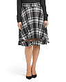 Plaid Print Illusion Skirt