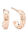 Made In Italy 18k Rose Gold Diamantissima Hoop Earrings