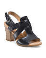 Ankle Wrap Leather Sandals