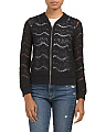 Juniors Lace Bomber Jacket