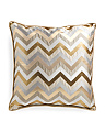 22x22 Zig Zag Gold Metallic Pillow