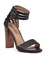 Jenna Heeled Leather Sandals