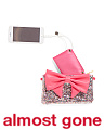 Glitter Bow With Phone Charger Crossbody