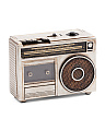 80's Silver Faux Cassette Player Decor Bank