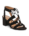 Gaziana Lace Up Suede Sandals