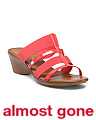 Made In Italy Sleek Wedge Sandals