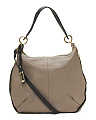 Made In Italy Colorblock Leather Hobo