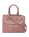 Made In Italy Belted Leather Tote