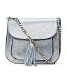 Made In Italy Tassel Leather Shoulder Bag