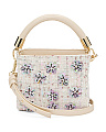Boucle Floral Embellished Bag