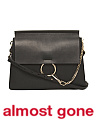 Made In Italy Faye Medium Leather Shoulder Bag