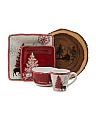 17pc Northwood Cottage Dinnerware Set