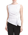 Sleeveless Ruched Side Top