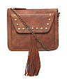 Studded Crossbody With Tassel
