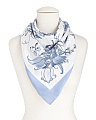 Made In Italy Butterfly Flower Print Scarf