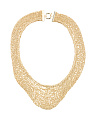 Made In Italy Gold Plated Sterling Silver Knit Necklace