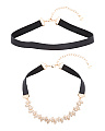 Set Of 2 Adjustable Choker Necklaces