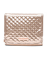 Metallic Quilted Cosmetic Bag