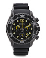 Men's Sea King Ufh Chronograph Black Rubber Strap Watch