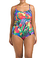 Plus Feathering Colors One-Piece Swimsuit