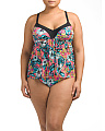 Plus Floral Tankini Set