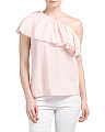 One Shoulder Gauze Top