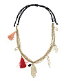 Made In India Hamsa Tassel Necklace