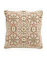 20x20 Made In India Floral Medallion Pattern Pillow