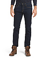Slim Straight Stretch Denim Jeans