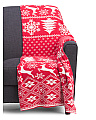 Made In India 50x60 Holiday Reindeer Throw