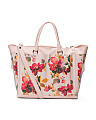 Made In Italy Flower Leather Tote