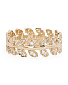 Made In Thailand 14k Gold Eternity Band Leaf Ring