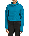 Juniors Turtleneck Cropped Sweater