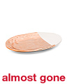 Metallic Accented Oval Platter