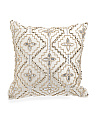 14x14 Made In India Small Beaded Accent Pillow