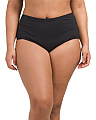 Plus High Waist Swim Bottom