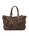 Made In Italy Distressed Large Leather Tote