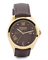 Women's Elmont Brown Leather Strap Watch
