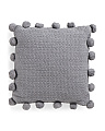 20x20 Made In India Parker Pom Pom Knit Pillow